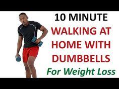 10 Minute Walking with Dumbbells Workout for Weight Loss