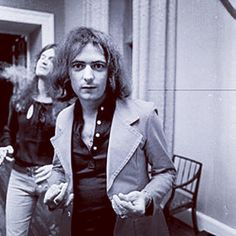 Blackmore & Hughes ~ Clearwell Castle, Forest of Dean, Gloucestershire, UK ~ Sept. 1973 ~ looks like I made Ritchie laugh!