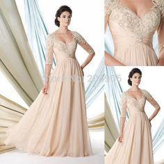 Find More Mother of the Bride Dresses Information about Vestido De Festa Longo 2014 Mother Of The Bride Lace Champagne Dress Chiffon Plus Size Evening Gowns With Sleeves MC7054,High Quality Mother of the Bride Dresses from Mlife Wedding Dress & Evening Dress CO., Ltd on Aliexpress.com