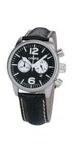 Ανδρικό Ρολόι COBRA με λουρί Breitling, Bracelets, Watches For Men, Cobra, Amazon Fr, Club, Accessories, Black Leather Bracelet, Analog Signal