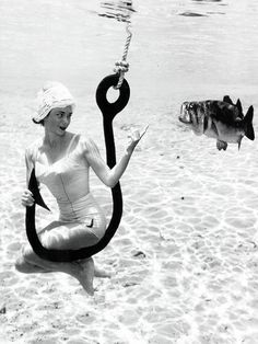 vintagegal: The underwater photography of Bruce Mozert c. 1950s (x) I have one if these images in my bathroom! I loved the style and creativity of these :)