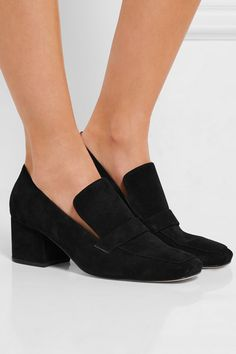 Heel measures approximately 50mm/ 2 inches Black suede Slip on Imported