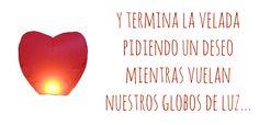 Red heart. Farolillo volador! Ideas para bodas en San Valentín