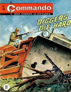 A cover gallery for the comic book Commando Comic Book Covers, Comic Books, Ian Kennedy, War Comics, Adventure Movies, Books For Boys, Classic Comics, Die Hard, Magazine Art