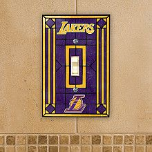 memory company los angeles lakers art glass switch cover nbastorecom