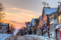 Winter Wonderland: A picturesque street in Maine.