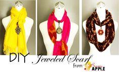 DIY jeweled scarf