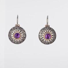 Round Sterling Silver Earrings   Filigree Earrings by LGAjewelry, $198.00