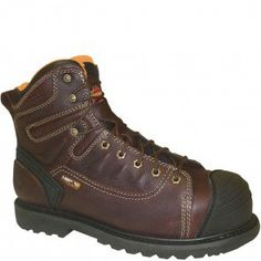 804-4616 Thorogood Men's IMET WP Safety Boots - Brown www.bootbay.com