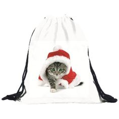 Cat soft Backpack, drawstring ($11) ❤ liked on Polyvore featuring bags, backpacks, cat bag, draw string backpack, cat backpack, polyester drawstring bag and polyester drawstring backpack