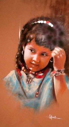 by letrache abderrahmane Pastel Drawing, Pastel Art, Painting & Drawing, Beauty In Art, Pastel Portraits, Paintings I Love, Art Paintings, Vintage Art Prints, African Art