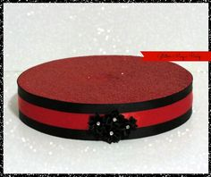 Flower Stand - Cakepops or Lollipops Stand - Flowers Decoration - Candy buffet - Red Stand - Black Flowers
