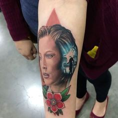Scully from the X-files don't by our artist @jordantattoo done at the Portland Tattoo Expo. #scullytattoo #xfilestattoo #renotattooco #tattooreno @fusion_ink #fusionink
