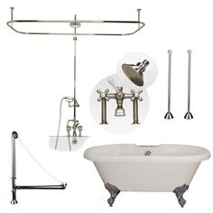 clawfoot tub and shower package. Randolph Morris 66 Inch Acrylic Double Ended Tub And Shower Package Clawfoot  54 Inch Cast Iron