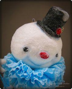 spun cotton snowman