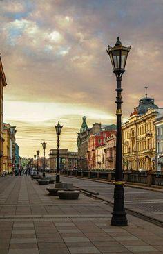 The Griboyedov canal quay, St.Petersburg, Russia / Набережная канала Грибоедова…
