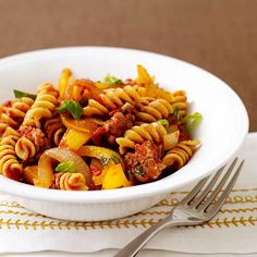 Italian Sausage and Pepper Pasta - Points Plus Value 7