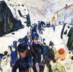 Walking in Snow Edvard Munch  1910-1912