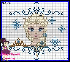 Queen Elsa - Frozen pattern by Aldray Ferreira