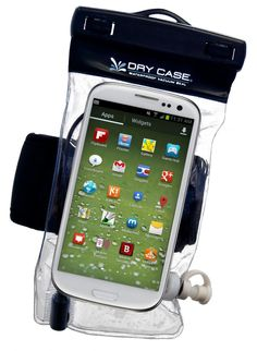 Dry Case Waterproof Bag: Completely seals off your smart phone or tablet and makes it waterproof to up to 100ft.