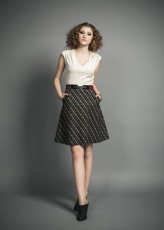 This dress is a great 4 season piece.  Made with Japanese cotton, this cap sleeve dress has a great Aline skirt that gives it a no fuss look. 179.00$ dress  http://www.jenniferglasgowdesign.com/