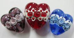 Lampwork bubble hearts by Johan de Lange