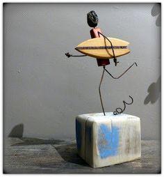 http://mutozinc.blogspot.fr/ driftwood, surf art, bois flotté