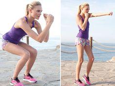 """Workout: Damit können Sie Ihre Muskeln formen, Kalorien verbrennen und sich den Kopf """"freiboxen"""". Zwei bis drei Durchgänge pro Übung machen Sie sta"""
