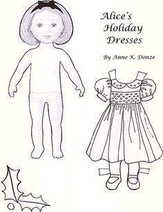✄ Alice's Holiday Dresses * 1500 free paper dolls Arielle Gabriel's The International Paper Doll Society #QuanYin5 Twitter QuanYin5 Linked In *