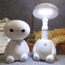 Lovely Cartoon LED Rechargeable Baymax Desk Lamp Flexible Length Modern Reading Lamp for Student Eye Protection Baymax, Animal Night Light, Led Night Light, Night Lights, Led Desk Lamp, Table Lamp, Cute Room Decor, Night Lamps, Home Decor Accessories