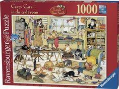 Ravensburger Crazy Cats In The Craft Room 1000 Piece Puzzle Ravensburger http://www.amazon.com/dp/B003SWZ8Z4/ref=cm_sw_r_pi_dp_oTXtub0HVDRB7