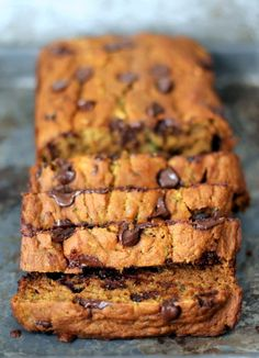 Pumpkin Zucchini Chocolate Chip Bread. #chocolates #sweet #yummy #delicious #food #chocolaterecipes #choco