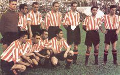 """Athletic Club Bilbao, Formación que conquisto el """"Doblete"""" en la temporada 1942-1943."""