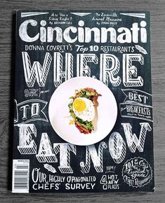 Another magazine cover with some nice typographic hierarchy.   Cincy Cover - Joel Holland illustration/hand lettering