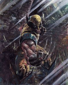 A collection of Marvel comic book artwork from the golden age of comics to the present. Marvel Wolverine, Hq Marvel, Marvel Comics Art, Marvel Heroes, Logan Wolverine, Logan Xmen, Captain Marvel, Captain America, Comic Book Characters