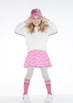b016df52b7 Adorable Kenzo Girls Pink Eye Print Skirt  amp  Grey Sweatshirt. Inspired  by the Kenzo