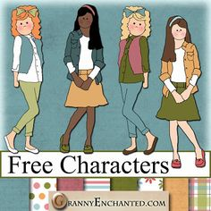 """Free """"Fresh"""" Digital Scrapbook PNG Character Girl Elements *** Join 2,120 people. Follow our Free Digital Scrapbook Board. New Freebies every day."""