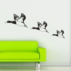Flying Ducks Retro Vintage Wall Sticker Decal Transfer Vinyl Transfer Art Birds Decoration