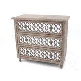 Found it at Wayfair - 3 Drawer Wood Cabinet