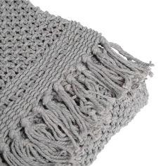 Decke+Knit,+B:150cm+x+L:200cm,+grau,+grau