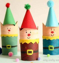 Toilet paper tube Christmas elf - easy kids craft  // Karácsonyi manók wc papír gurigából - kreatív ötlet gyerekeknek // Mindy - craft tutorial collection // #crafts #DIY #craftTutorial #tutorial #ChristmasCrafts #Christmas