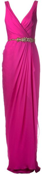 Notte By Marchesa Cascading Skirt Gown in Purple (pink  purple) - Lyst    jaglady