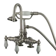 Vintage Hi-Rise Spout Deck Mount Tub Faucet