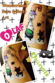 Halloween Olaf body painting