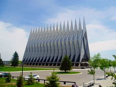 Cadet Chapel at the Air Force Academy in Colorado Springs.
