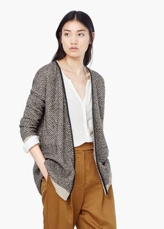 Textured knit cardigan - Cardigans and sweaters for Women | MANGO