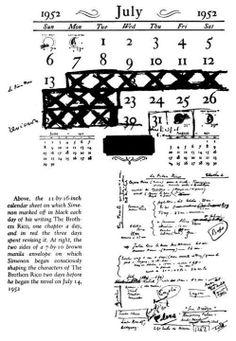 Il calendario di Simenon: 9 giorni per scrivere I fratelli Rico e 3 per revisionarlo. Wow!