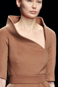 Jasper Conran, fall 2012 #lfw #runway #details  Amazing neckline!