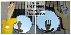 Juego simbólico, emociones y manualidad  http://www.trebolito.com/2016/09/11/titeres-cucharas-palo-emociones-cambiantes/