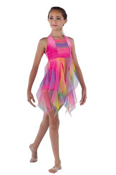 15461 Somewhere With You Modern Dance Costume, Dance Recital Costumes, Cute Dance Costumes, Contemporary Dance Costumes, Tap Costumes, Cheer Outfits, Dance Outfits, Rainbow Dance, Fish Costume
